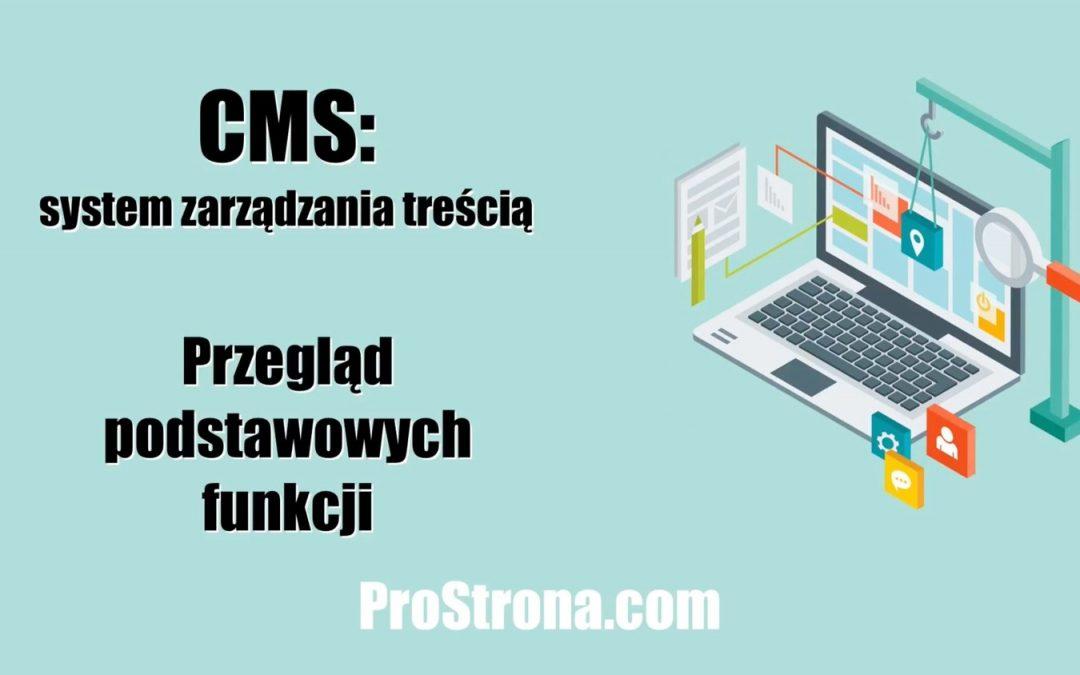Podstawowy CMS – Przegląd podstawowych funkcji